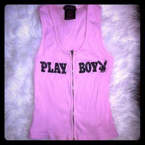 Playboy Zip-Up Tank Top